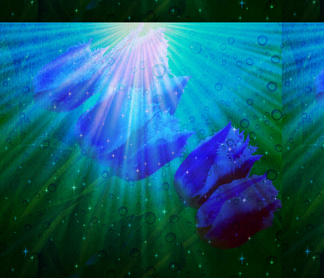 blue tulip magic fabric by ann-dee on Spoonflower - custom fabric