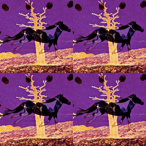 Purple_horse_8x8_8893 fabric by haylar on Spoonflower - custom fabric