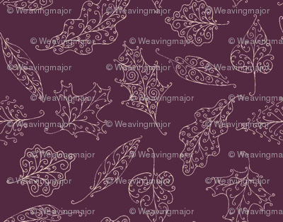swirling leaves in mauve twilight