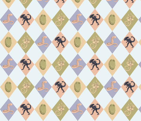 ALIEN Argyle fabric by captainsunshine on Spoonflower - custom fabric