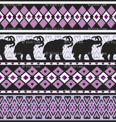 Fairisle Purple Woolly Mammoth
