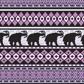 Fairisle Purple Woolly Mammoth