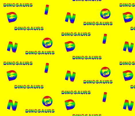 Dinosaur Letters fabric by artist4god on Spoonflower - custom fabric