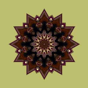 Kaleidescope 3360 trimmed solar r1 brown mandala yellow