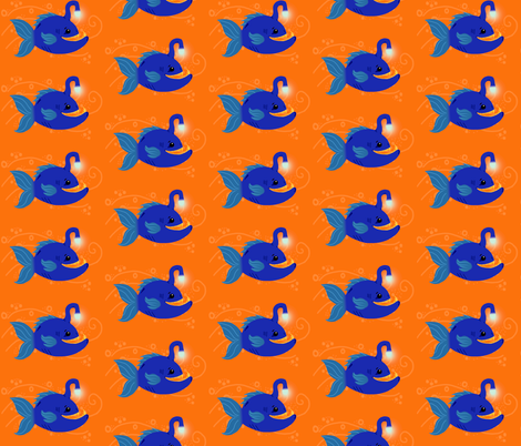 Blue Angler fabric by angelcallie on Spoonflower - custom fabric