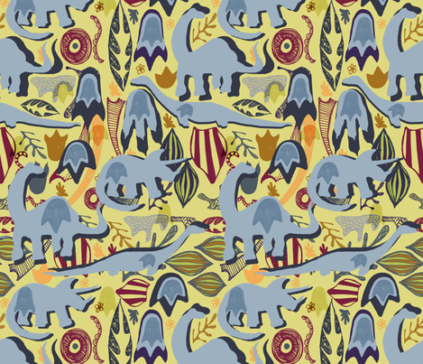 Fossilised Footprints. fabric by slumbermonkey on Spoonflower - custom fabric