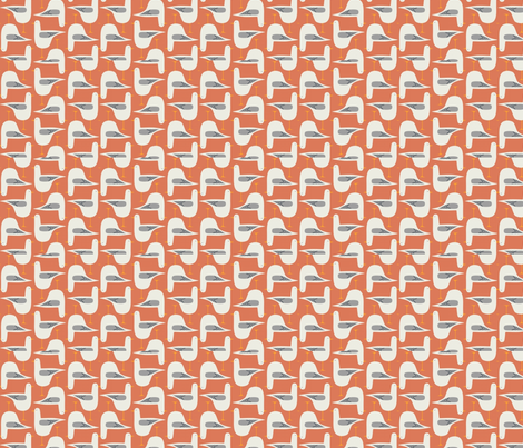 Coral Seagull fabric by andybee on Spoonflower - custom fabric