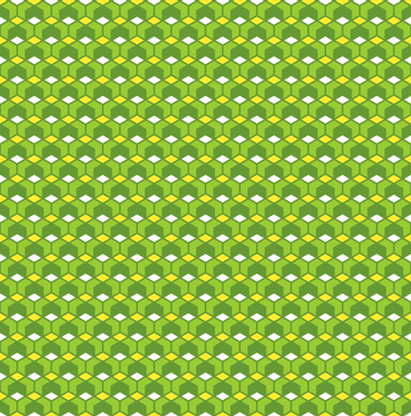 Six to the power of four! - green fabric by moirarae on Spoonflower - custom fabric