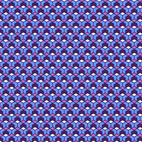 six to the power of four! purple fabric by moirarae on Spoonflower - custom fabric