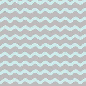 Stormy Sea Stripe (lt. aqua + gull grey)