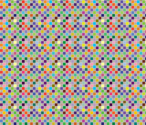 Squares and mini dots fabric by linsart on Spoonflower - custom fabric