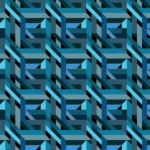 Abstract Tessellation - Blue Girders