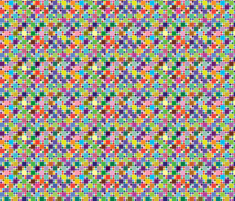 Dots n squares 2 fabric by linsart on Spoonflower - custom fabric