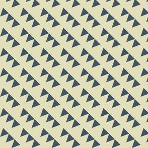 deep sea teal triangles