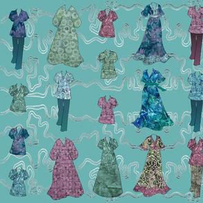 Batik Fashions - large - turquoise