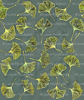 Ginkgos on Gray
