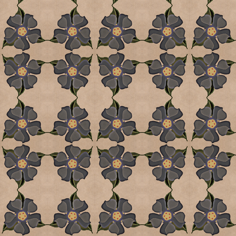 Muted Floral fabric by ravynscache on Spoonflower - custom fabric