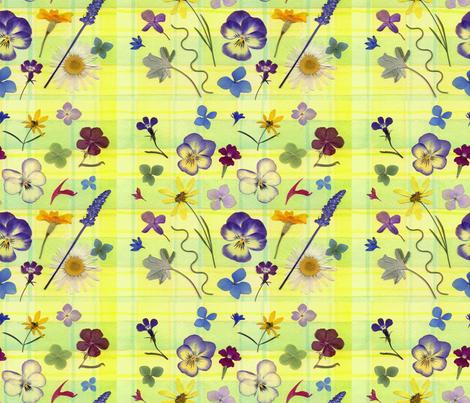 Pansy Garden fabric by mypetalpress on Spoonflower - custom fabric