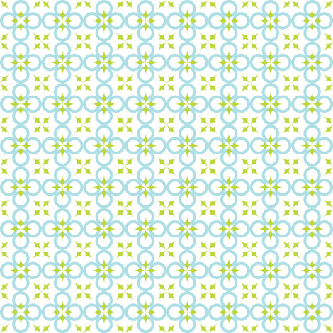 Mini Blue/Green Mod Circle fabric by audreyclayton on Spoonflower - custom fabric