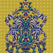 Leafy and Jekyll Damask : Novo Morris Collection