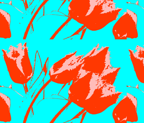 red tulips 4-ever fabric by ann-dee on Spoonflower - custom fabric