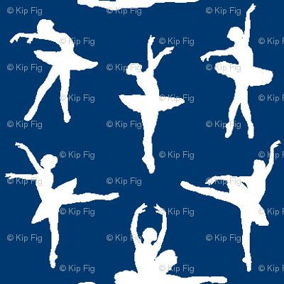 Ballerina Fabric Navy Blue - Small