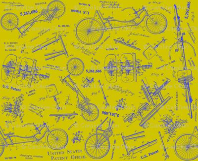 Recumbent Chartreuse Blueprint