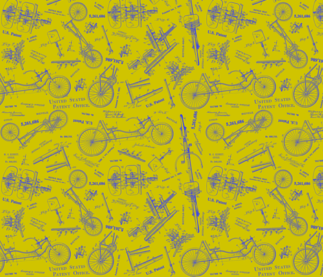 Recumbent Chartreuse fabric by brainsarepretty on Spoonflower - custom fabric