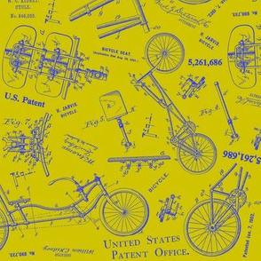 Recumbent Chartreuse Blueprint
