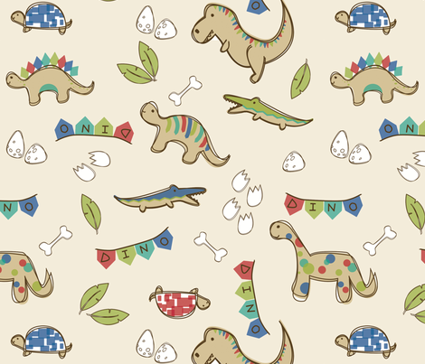 Delightful Dinos fabric by delightfuldesigns on Spoonflower - custom fabric