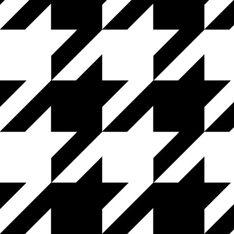 Houndstooth Check // Black & White ((Medium)) fabric by theartwerks on Spoonflower - custom fabric