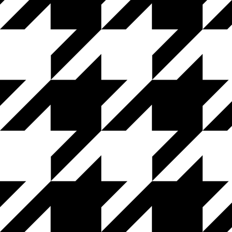 Medium Size Houndstooth Check - Black & White fabric by theartwerks on Spoonflower - custom fabric