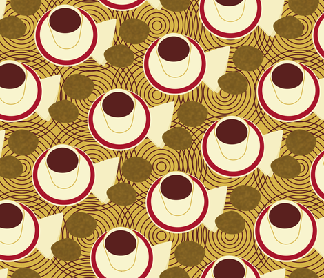 Tea in Tanzania fabric by melhales on Spoonflower - custom fabric