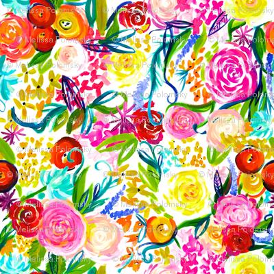 "Neon Summer Floral ""Regular"" 18"" Repeat"