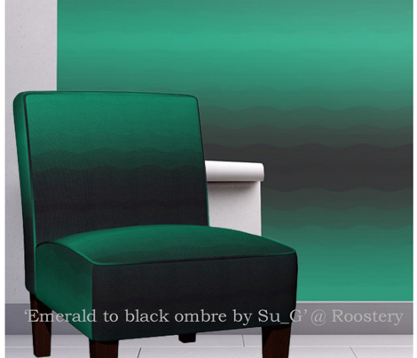 Emerald to black ombre by Su_G
