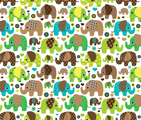 Indian Colorful Elephants Boys Summer Festival Fabric By Littlesmilemakers On Spoonflower