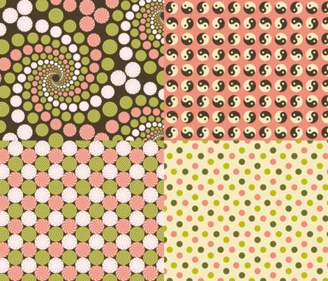 dim sum coordinates fabric by sef on Spoonflower - custom fabric