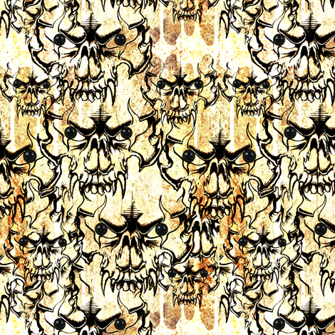 small demon skulls fabric by whimzwhirled on Spoonflower - custom fabric