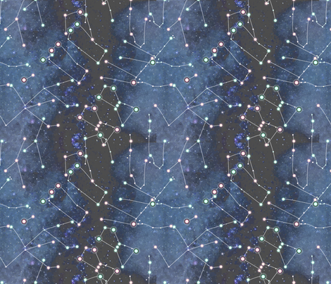 Winter Sky fabric by renelope on Spoonflower - custom fabric