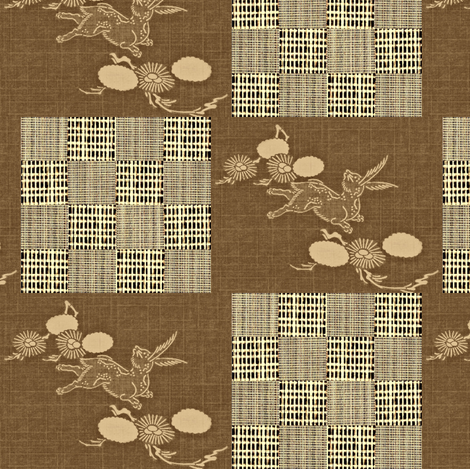 Woodland Hare - brown, beige, buttermilk fabric by materialsgirl on Spoonflower - custom fabric
