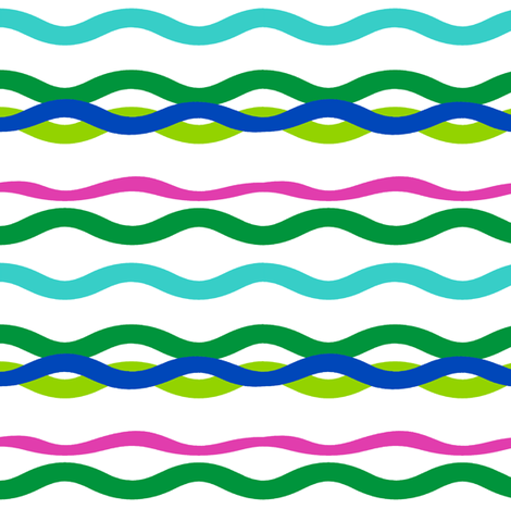 Waves fabric by honey_gherkin on Spoonflower - custom fabric
