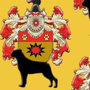 Rottweiler Coat Of Arms fabric