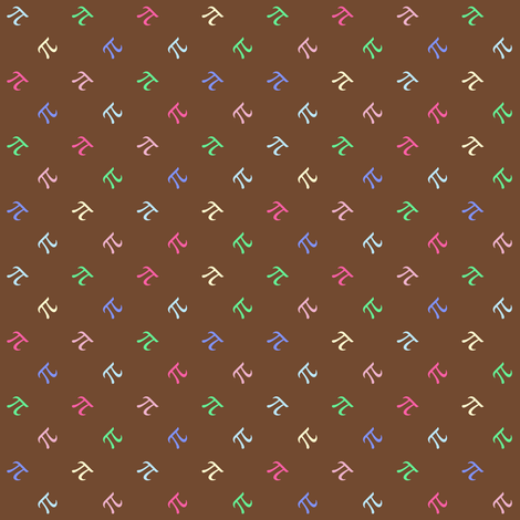 Chocolate Sprinkle Pi fabric by weavingmajor on Spoonflower - custom fabric