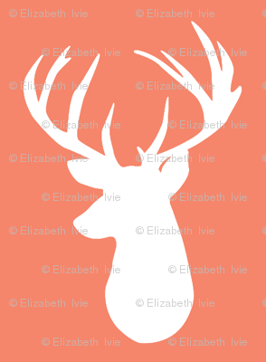 coral deer head