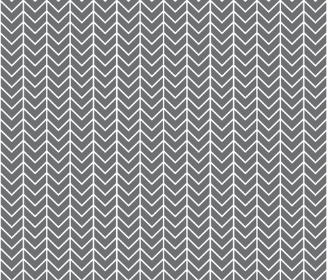 charcoal chevron fabric by ivieclothco on Spoonflower - custom fabric