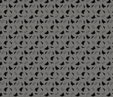 Stark Winter Is Coming  fabric by lintc on Spoonflower - custom fabric