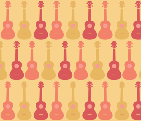 ukulele 4 fabric by owlandchickadee on Spoonflower - custom fabric