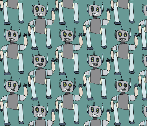 Robots 1 fabric by iliketodraw on Spoonflower - custom fabric