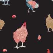Little Hens and bugs