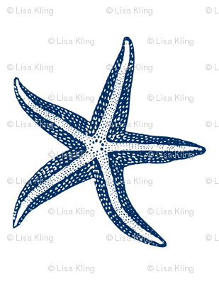 I wish upon a Starfish Blue